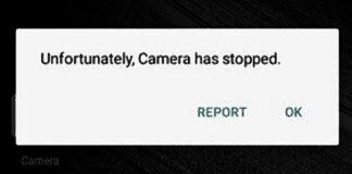 camera has stopped