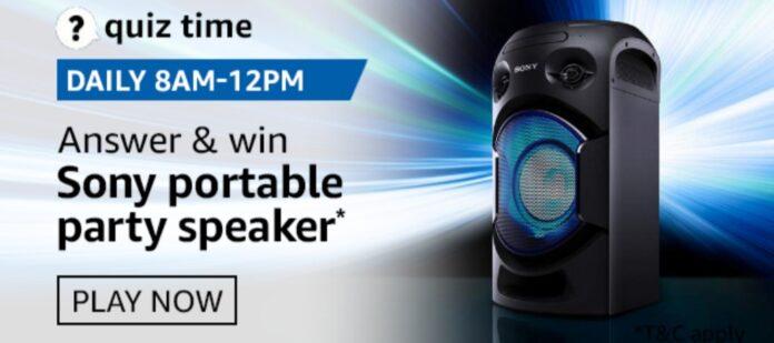 Sony party speakers quiz