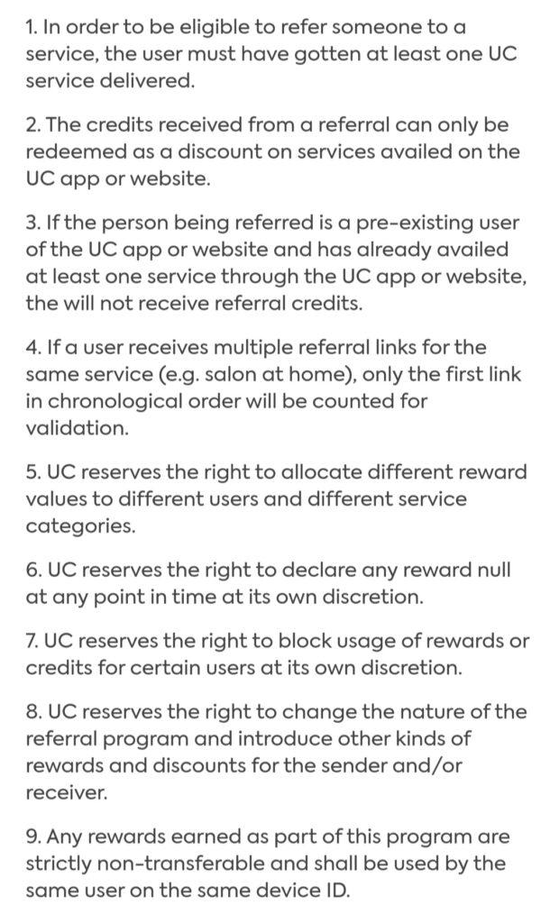 Urbanclap referral code