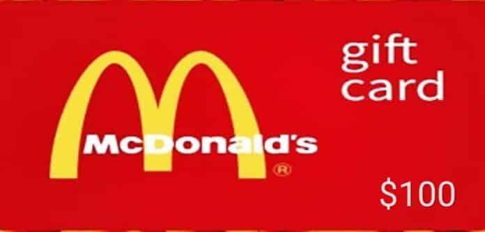 Mcdonald Gift Card generator